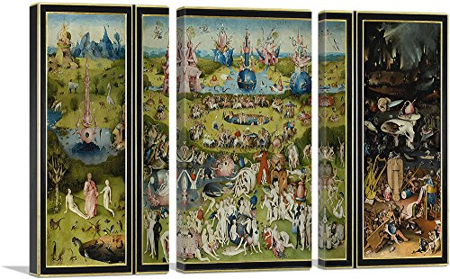 ARTCANVAS The Garden of Earthly Delights 1515 Canvas Art Print by Hieronymus Bosch - 60