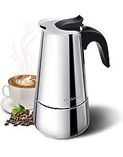 Godmorn Cafetera italiana, Cafetera espressos en Acero inoxidable430, 6 tazas,Conveniente para la