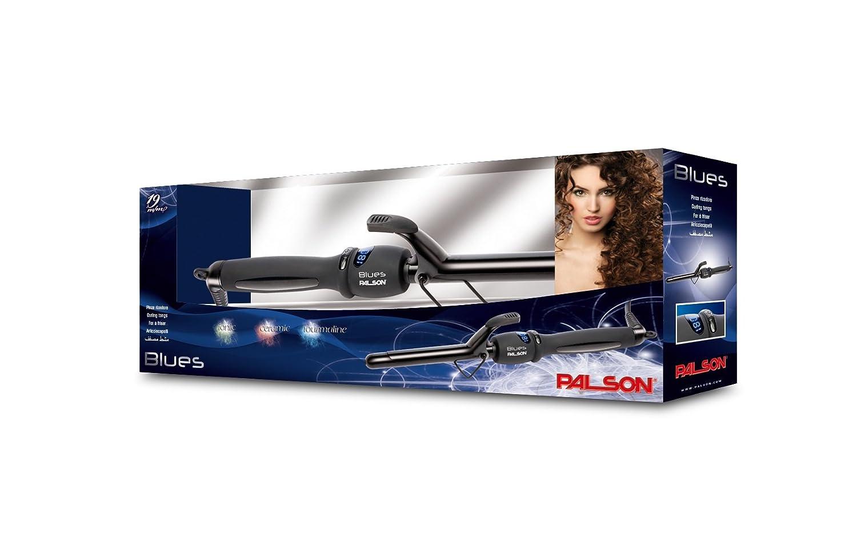 Palson 30632 Blues - Moldeador-Pinza Rizadora Pelo, Iónica/Cerámica, 32Mm, Cable 2.8M, Selector Temp. Electrónica, Con Indic. Luminoso.