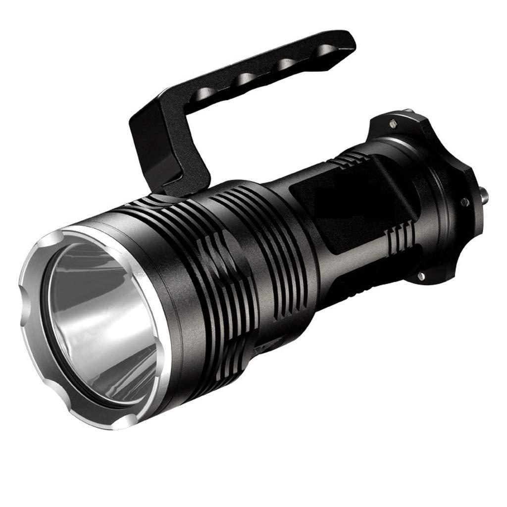 QIANDING toudeng Angeln Licht Nachtlicht Suchscheinwerfer Scheinwerfer LCD Camping Patrol Taschenlampe Lichtquelle Verstärkung 19W schwarz