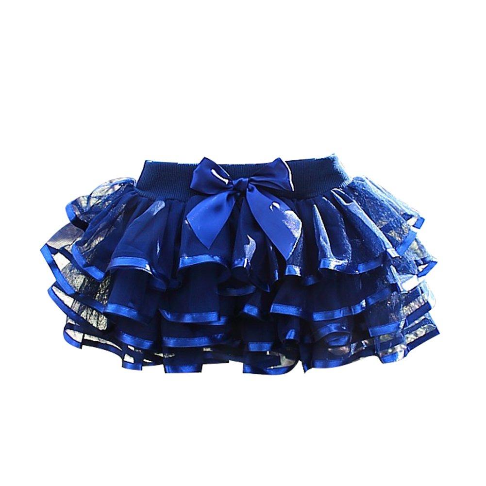 Free Fisher Niñas Falda Vestido capas Tutú Ropa de Baile Fiesta Casual, Azul, 9-11 años(Talla fabricante: 150) 9-11 años(Talla fabricante: 150) F2473L15