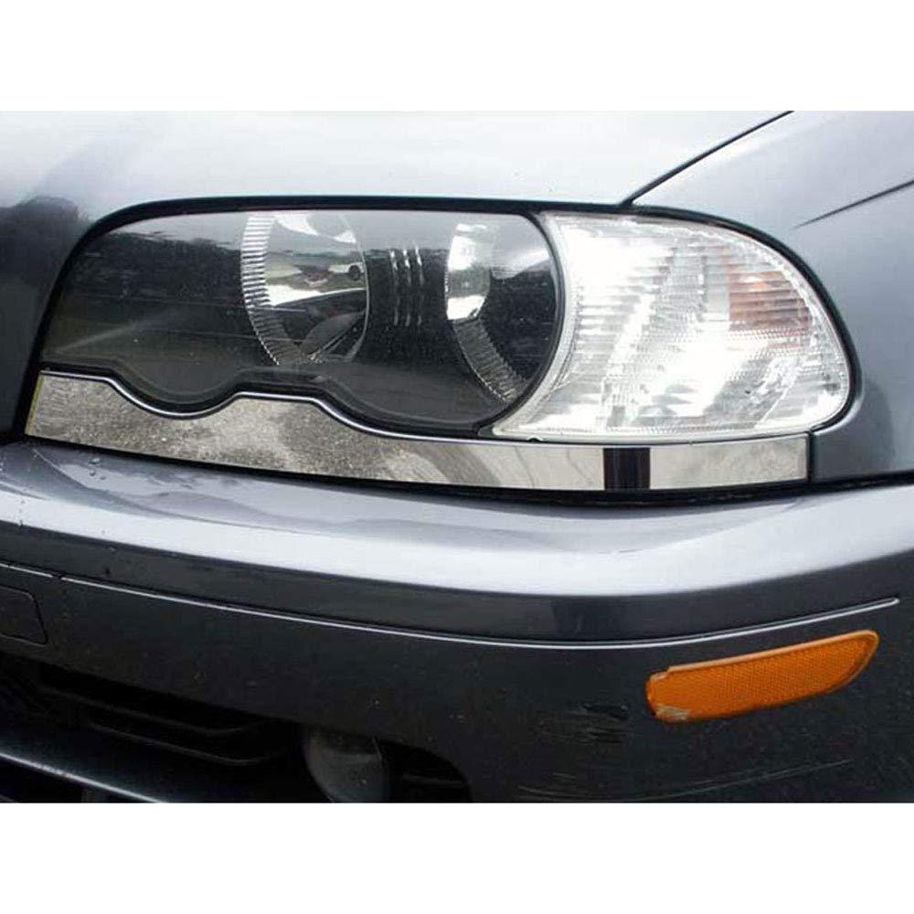 2pc Chrome Lower Headlight Trim fits 2000-2005 3 Series