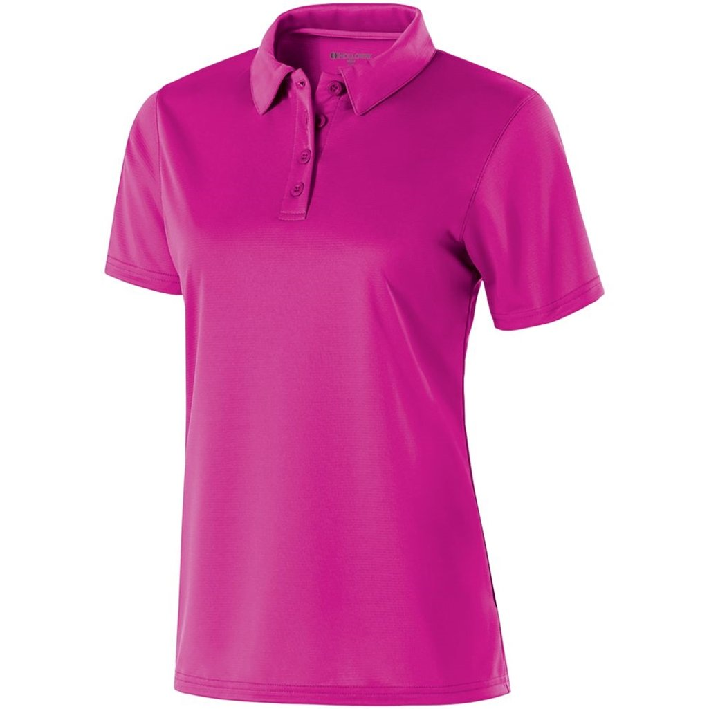 Holloway Ladies Dry Excel Shift Polo (X-Small, Power Pink) by Holloway