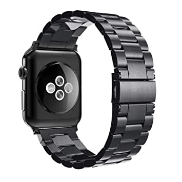 Simpeak Correa Compatible con Apple Watch Series 5/ Series 4/Series3/ Series 2/ Series 1 Correa 38mm de Acero Inoxidable Reemplazo de Banda Compatible ...
