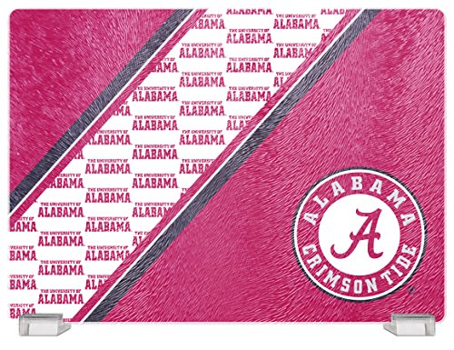 NCAA Alabama Crimson Tide Tempered Glass Cutting Board with Display Stand