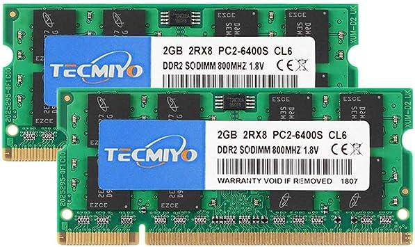 New Micron 4GB PC2-6400 DDR2-800MHz 200Pin CL6 SODIMM Non-Ecc Laptop Memory RAM