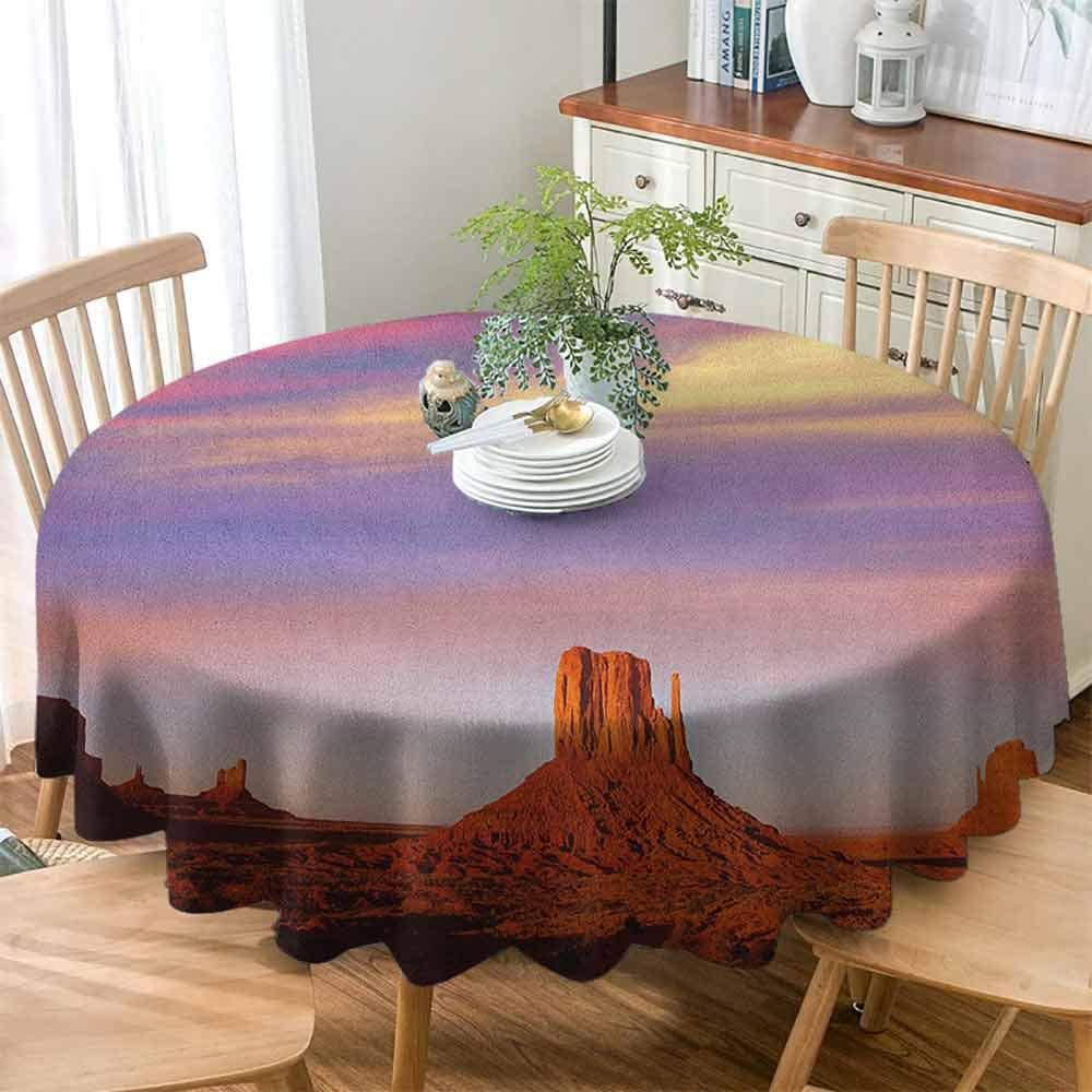 Betsy Barnard Spill-Proof Table Cover United States,Monument Valley West Mitten and Merrick Butte Sunset Utah Desert, Dark Orange Pink Blue ,for Home & Office & Restaurant Table Tea Table 39'' inch by Betsy Barnard