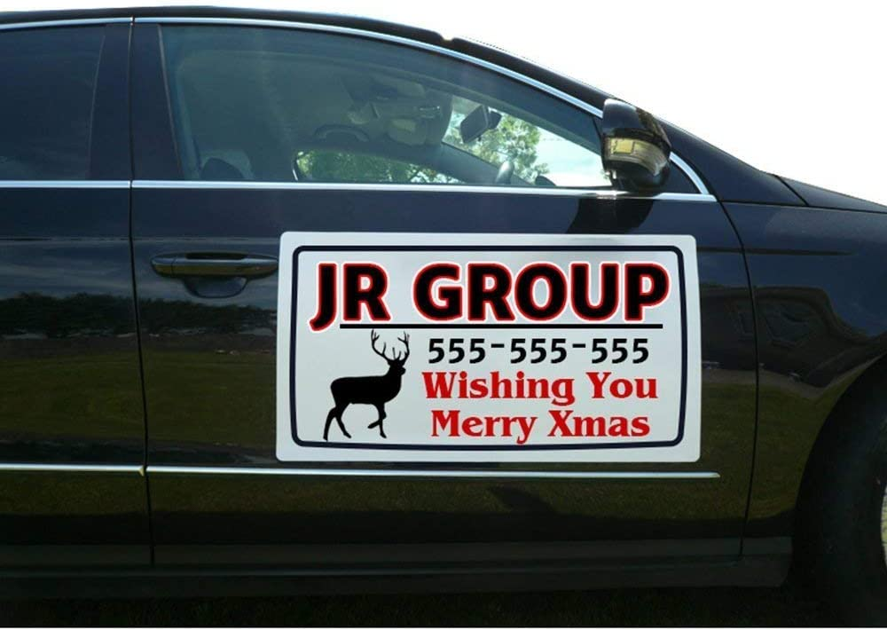 """Custom GARAGE DOORS Magnetic Signs for Car Truck SUV 6/""""x18/"""" Phone or Web site"""