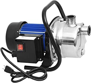 1.6 HP Stainless Steel Lawn Sprinkling Pump Electric Water Pump Transfer Pump Shallow Well Pump Garden Lawn Irrigation Booster Pump