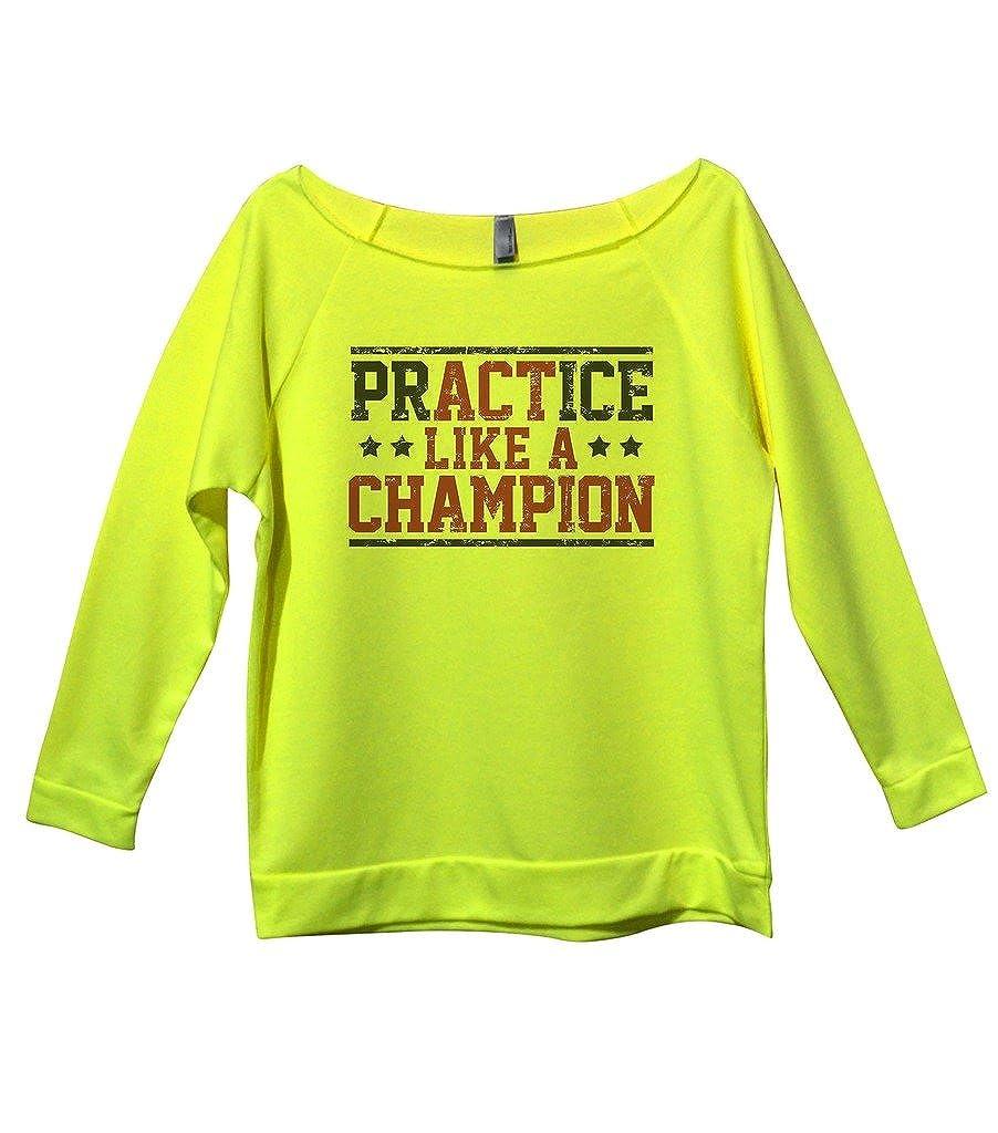 Cute 3/4 Girls Sports Sweatshirt Practice Like A Champion Royaltee Shirts