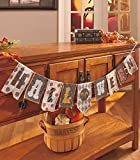 Halloween Burlap Banner Mantle Fireplace Garland Haunted House Prop Tabletop Accent Decoration