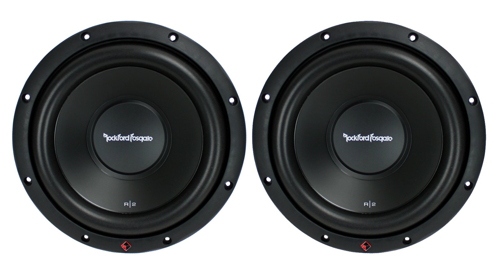 2) New ROCKFORD FOSGATE R2D2-10 1000W 10'' 2-Ohm Car Audio Subwoofers Subs R2D210