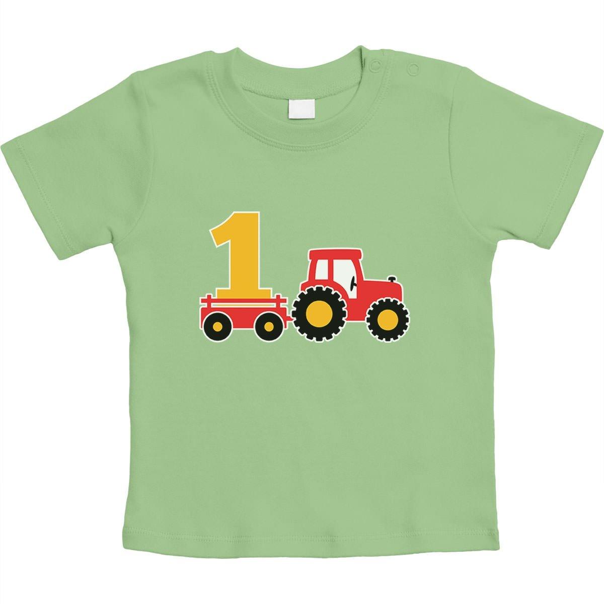 1 Jahr Geburtstag Junge Geschenk Traktor Bagger Unisex Baby T-Shirt Gr. 66-93 VSCSDQC68E