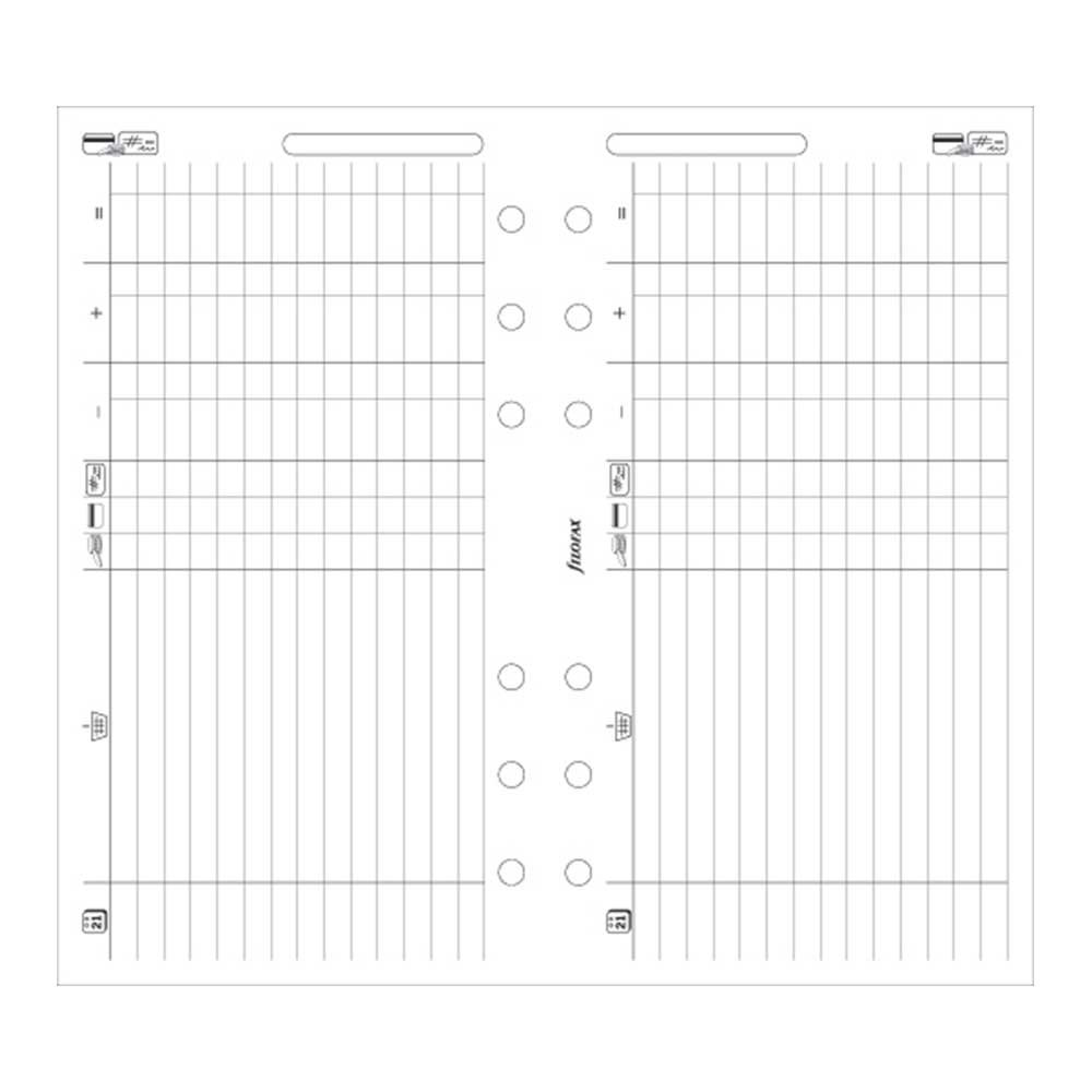 FILOFAX Finance Leaves for Personal & Personal Compact Organizers, 20 Sheets (B130618)