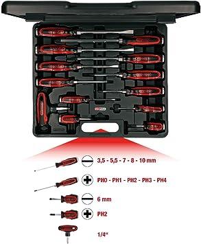 KS Tools 151.1150 Pack Destornilladores de Impacto, Inclusive carraca con Mango en T, Set de 13 Piezas: Amazon.es: Bricolaje y herramientas