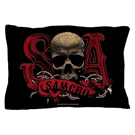 Amazon.com: CafePress – Samcro Cráneo – Funda de almohada de ...
