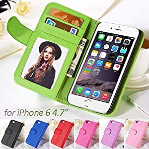 10 Pcs 4.7 Inches Case For IPhone 6 Wallet Flip Cover PU Leather Case for iPhone 6 With Stand Card Holder Wholesale Phone Case --- Color:Random color