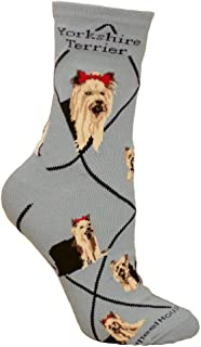 product image for Wheel House Designs Yorkshire Terrier Women's Argyle Socks (Shoe size 6-8.5)