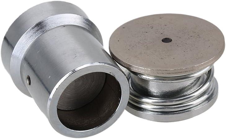 Hand Press Machine Setter Silver Tone Metal Fabric Cover Button Die Mold 36L