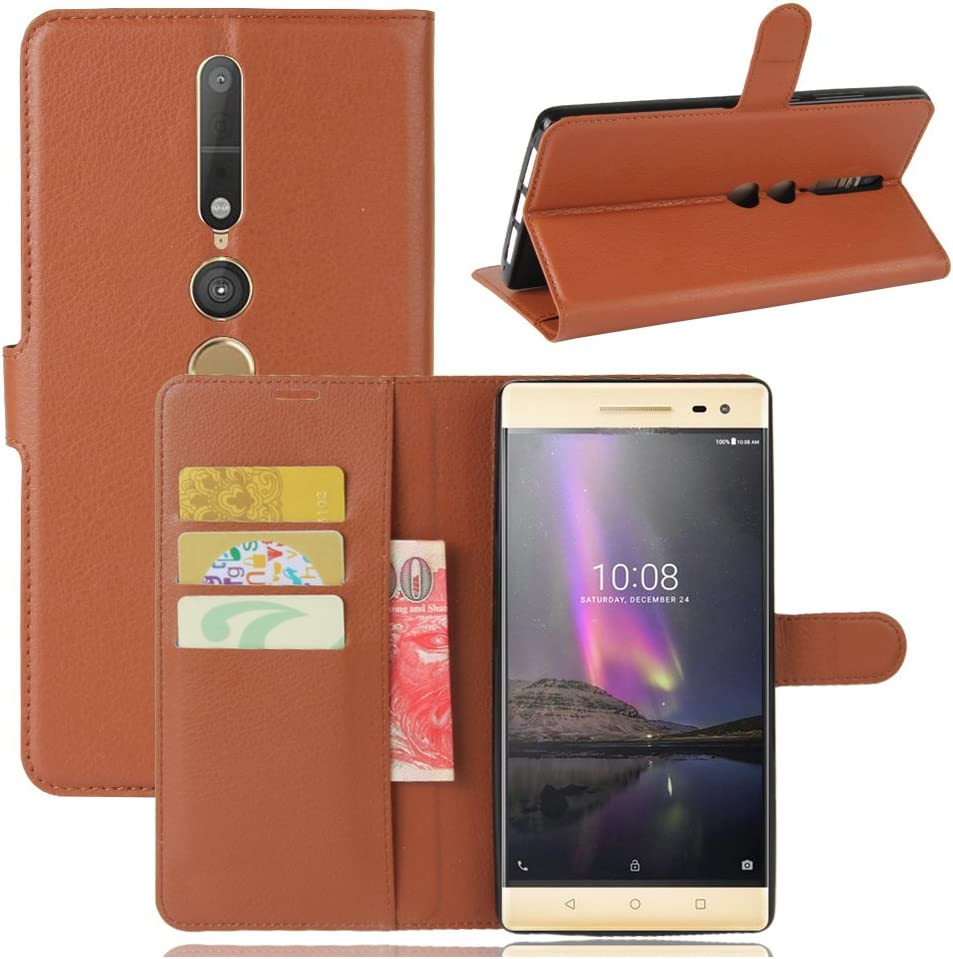 Lenovo phab 2 Pro Case–Manyip PU Leather Stand Wallet Flip Case Cover for Lenovo phab 2 Pro,Business Style Phone Protection Shell,The case with[Cash and Card Slots]