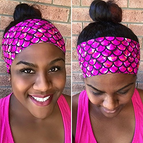 Pink Mermaid Fitness Headband