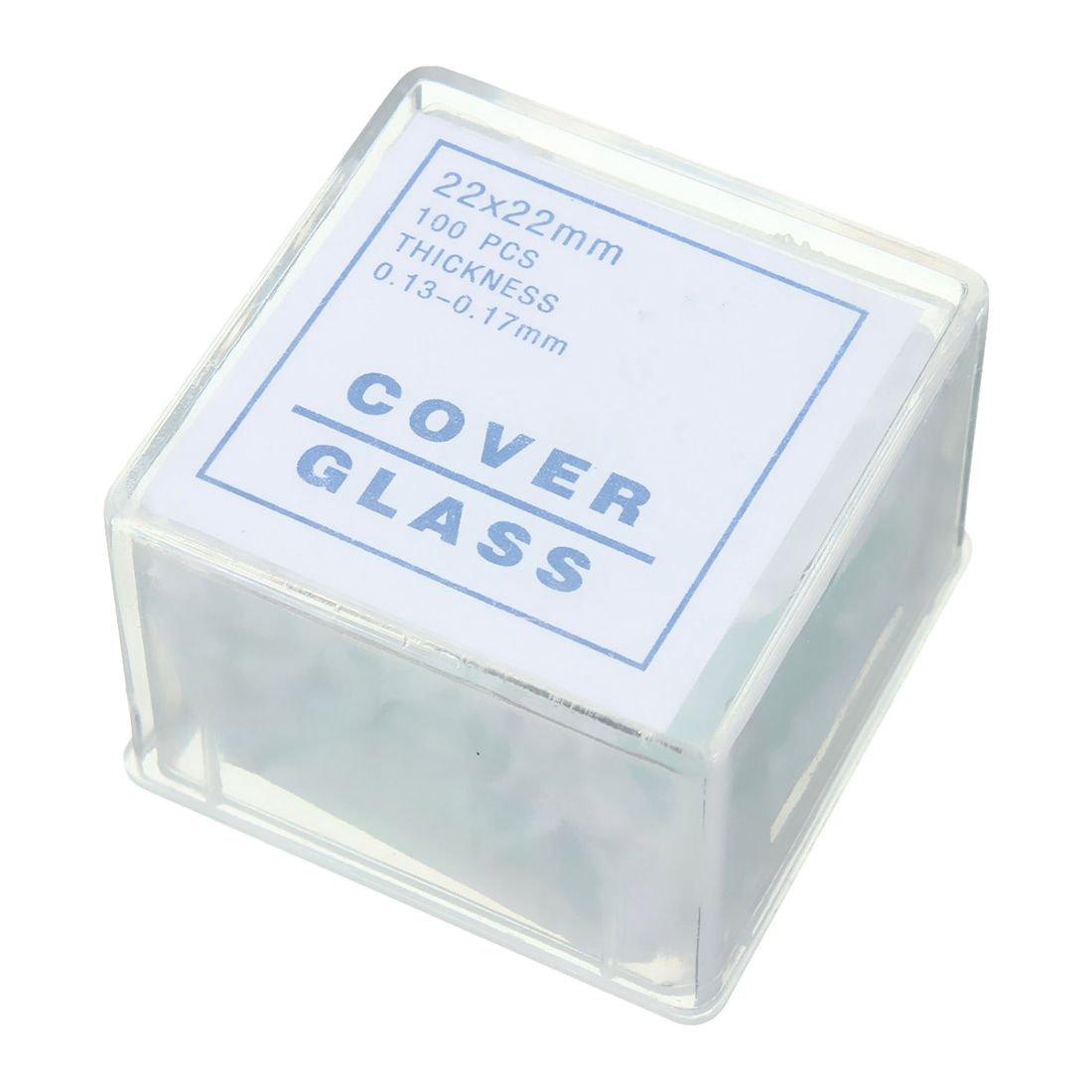 SODIAL 100pcs Transparent Slides Coverslips Coverslides 22x22mm For Microscope