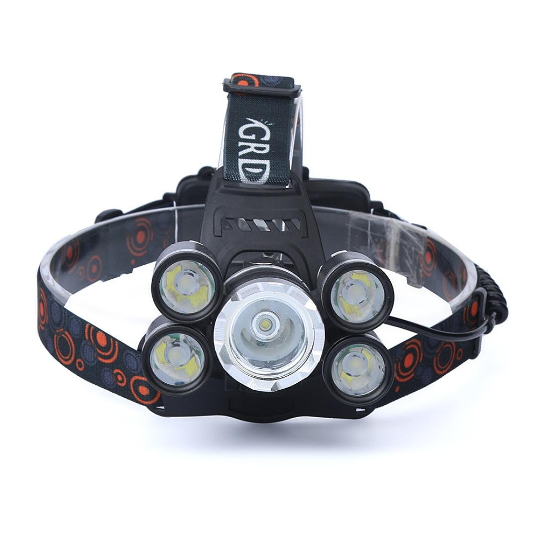 Angelof Lampe Frontale Puissante Avec 5 Led Headlight Energizer Chasse Lampe Rechargeable 35000 Lumens