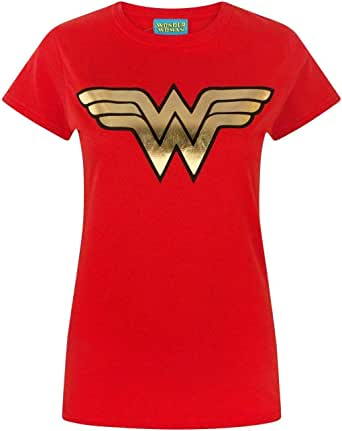 Wonder Woman Foil Women's T-Shirt DC Superhero Ladies Tee