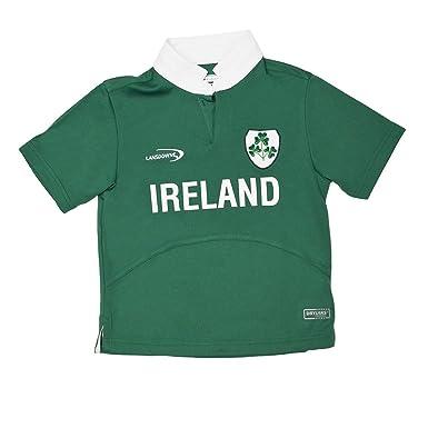c4d7af914 Lansdowne Green Ireland Shamrock Performance Short Sleeve Kids Rugby Shirt  (1/2 Years)