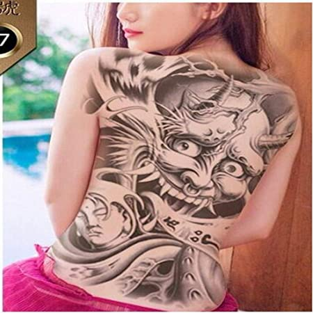 2pcsWaterproof Etiqueta Chica del Tatuaje Tatuaje Tatuaje Tamaño ...