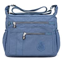 Crossbody Bag for Women Nylon Waterproof Shoulder Purse Messenger Bag Lightweight Pocketbooks