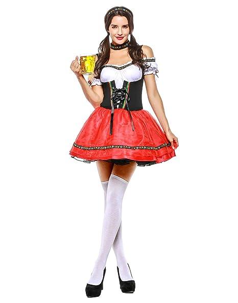 Amazon.com: HDE - Disfraz de sirvienta de cerveza para mujer ...
