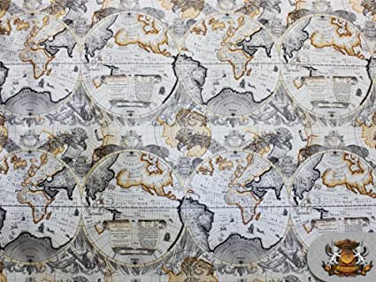 Amazon vinyl atlas world map flannel back upholstery fabric 52 vinyl atlas world map flannel back upholstery fabric 52quot gumiabroncs Image collections