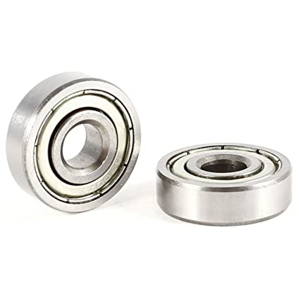 10x30x9mm 5 x 6200RS Carbon Steel Rubber Shielded Deep Groove Ball Bearings