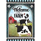 Welcome To The Farm Animal Friends Summer Day 30 x 44 Large House Flag Review
