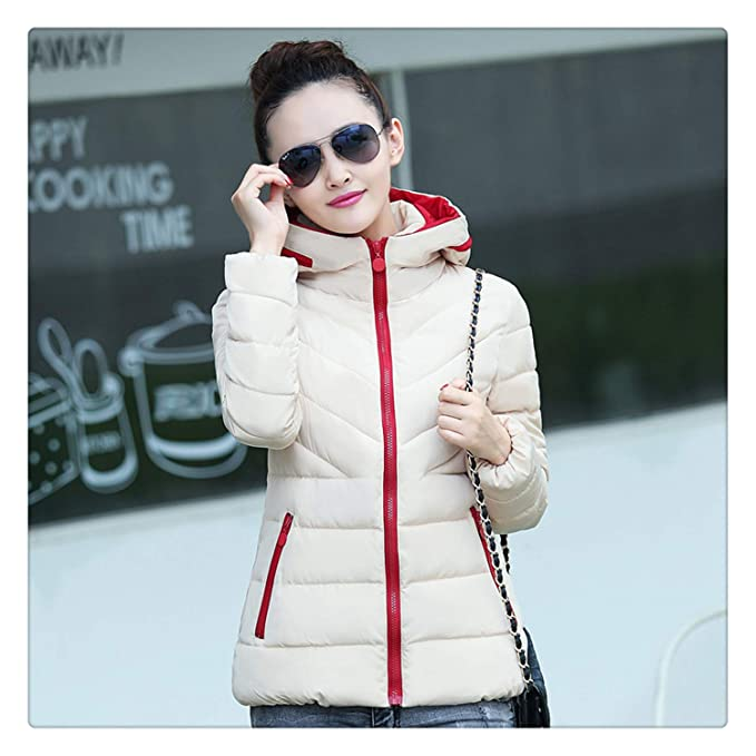 6ea1d90f2e6 Image Unavailable. Image not available for. Color  Nhequren 2018 Big Size  3XL Hooded Winter Women Jacket ultral Light ...