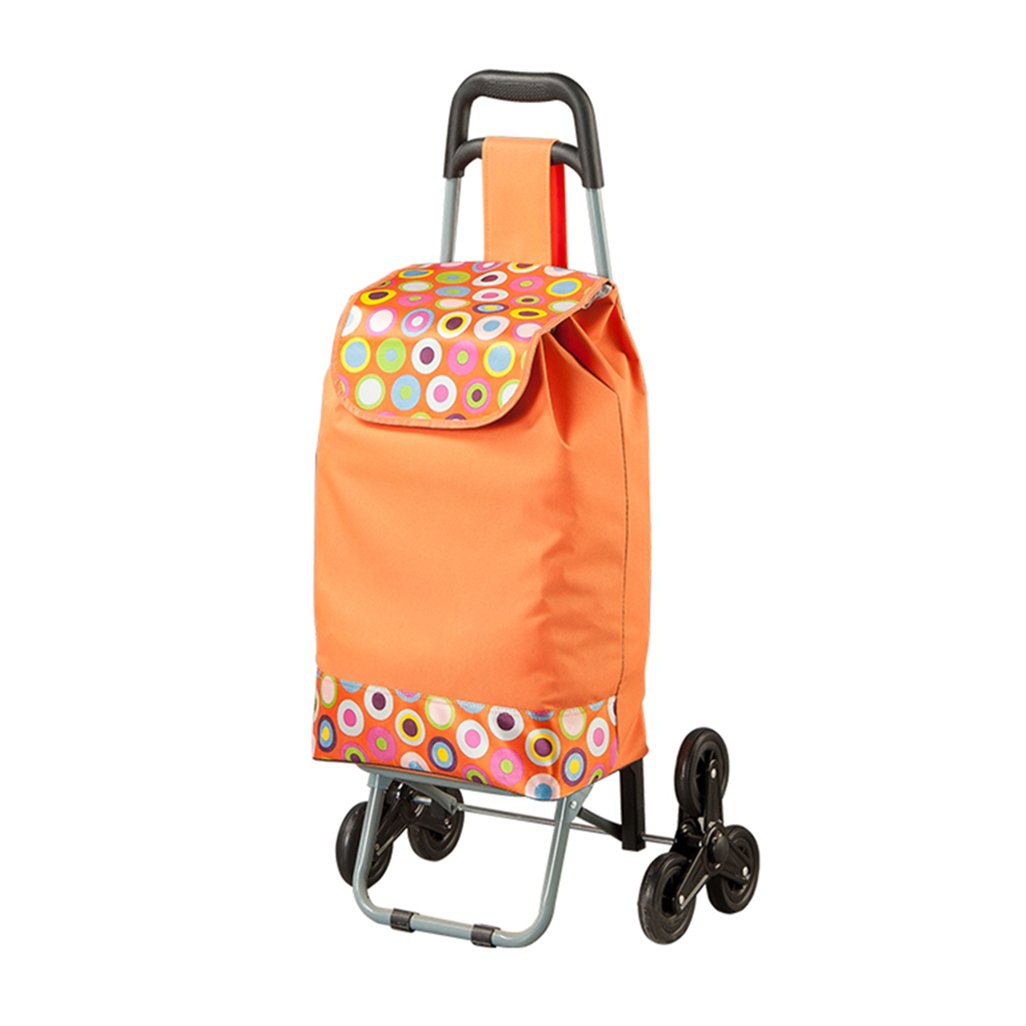 GLJ All Good Shopping Cart Luggage Cart Shopping Cart Folding Metal Removable and Washable Trolley