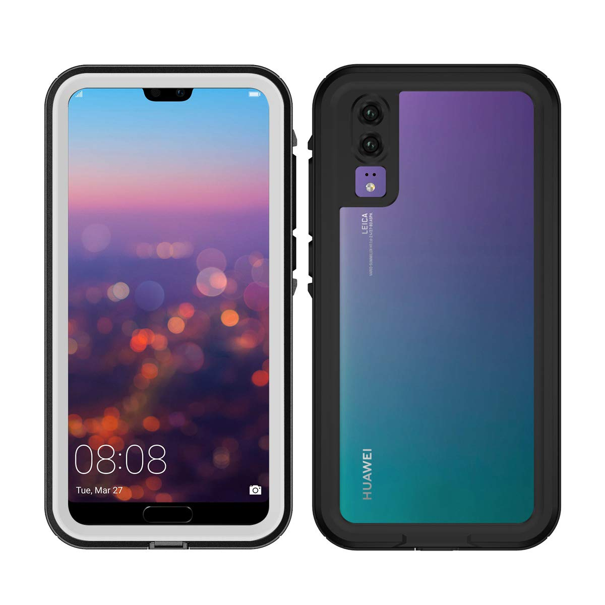Huawei P20 Waterproof Case, Fusutonus [IP68 Certified] Underwater Full Sealed Cover, Full Body Protective Shockproof Snowproof - Blue M593-YG-926