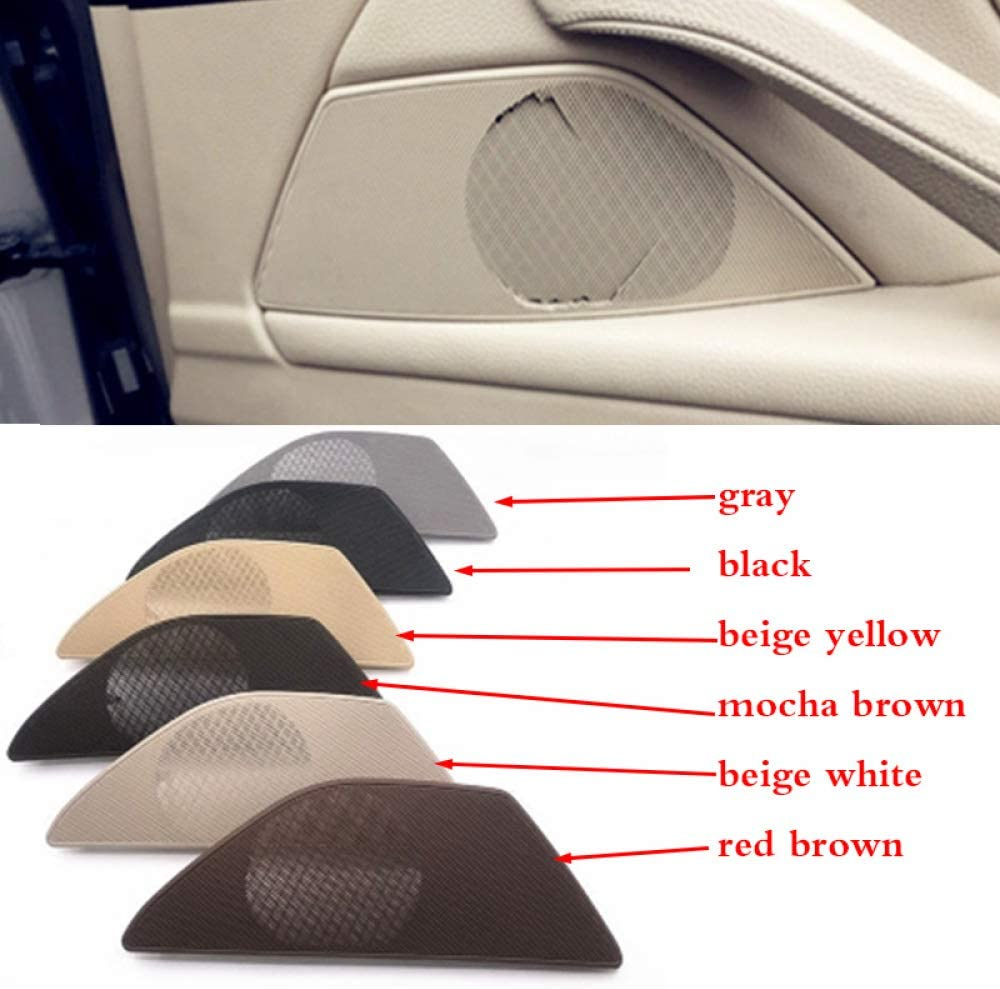 XHULIWQ 1pcs Front left//right Car door speakers cover trumpet speakers cover,For BMW F10 F18 520 523 525 528 530 535