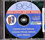 STEP-BY-STEP, FULLY ILLUSTRATED 1964 BUICK FACTORY REPAIR SHOP & SERVICE MANUAL & BODY MANUAL CD Includes - Special, Special Deluxe, Sport Wagon, Skylark, LeSabre, Wildcat, Electra 225, Riviera 64