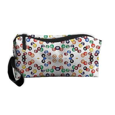 Portable Billiards Balls Receiving Package Makeup Bag Pencil Pen Case Makeup Bag Set For Unisex