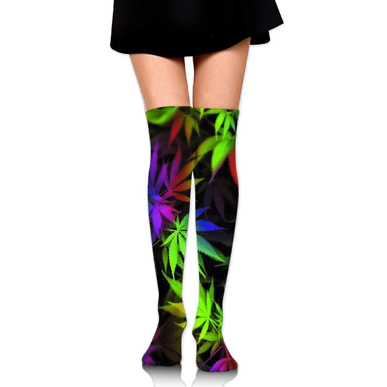 Men's/Women's Tie Dye Pot Leaf Weeds Casual Crew Top Socks 60cm Length
