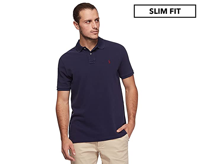 6b4ec770be1c Polo Ralph Lauren Men s Custom Slim Fit Mesh Polo Shirt Windsor Navy ...