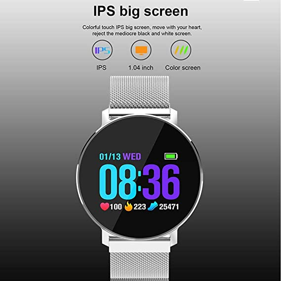 ... Camera Touch Screen Smart Wrist Watch Support Push Message Pedometer Health Sport Tracker Watch for Android Samsung iOS iPhone Kids Men Women - Rose ...