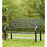 Hummingbird Cast Aluminum Garden Bench