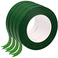 """Wingsflying 4 Rolls 1/2"""" Wide 30Yard/Roll Floral Tapes for Bouquet Stem Wrap Florist Craft Projects (Dark Green)"""