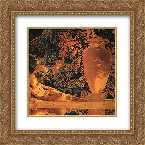 Maxfield Parrish 2x Matted 20x20 Gold Ornate Framed Art Print 'The Garden of Allah [detail]' - Maxfield Parrish Garden