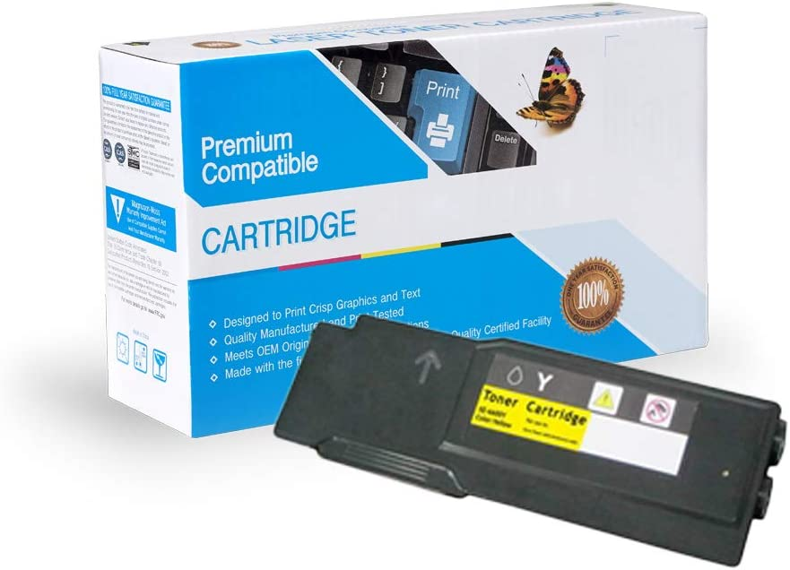 Print.After.Print Compatible Toner Replacement for Xerox 106R02227 6605DN Works with: Phaser 6600 6605N 106R02243 6600N Yellow 6600DN; WorkCentre 6605