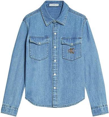 Calvin Klein Jeans IB0IB00421 Tela Vaquera niño na 14a: Amazon.es: Ropa y accesorios