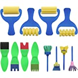 YGDZ Top Quality 12 Pack Early Learning Mini Flower Sponge Painting Brushes Craft Brushes Set for Kids Shipping by FBA